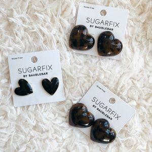 SUGARFIX Earring bundle. Heart shaped.
